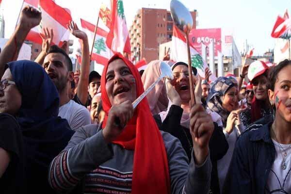 شگرد جدید معترضان لبنانی در بیست ودومین روز متوالی از اعتراضات