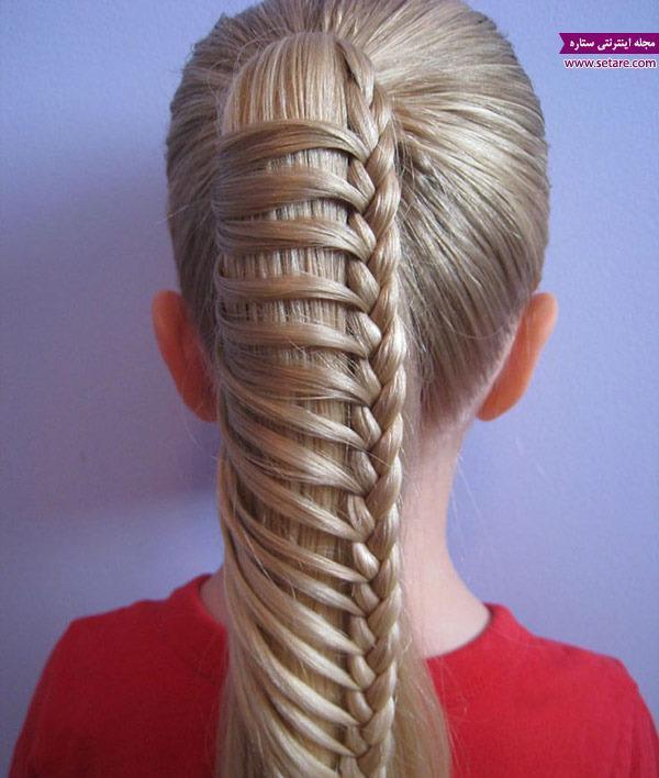آموزش بافت موی نردبانی